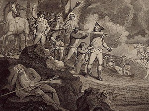 Battle of Lexington engraving