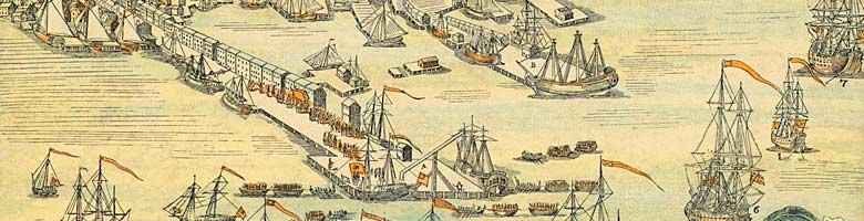 boston harbor engraving