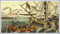 Image of Boston Tea Party Painting