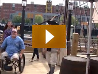 watch video of a veteran visits the boston museum