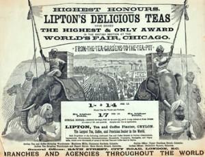 Historical Photo of Lipton Tea
