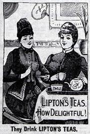 Lipton Tea Advertisement 1890