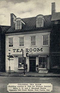 Colonial Tea Room in New Castle, DE