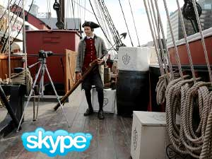 Photo of skype tours at the boston tea party