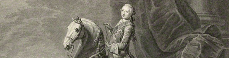 Photo of king george on a horse