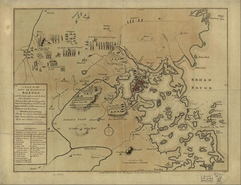 Map Of New York During American Revolution.The Aftermath Of Lexington And Concord Lexington Concord 1775