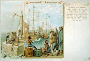 boston tea party history painting