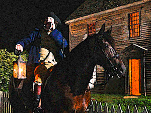 Paul Revere reenactment photo