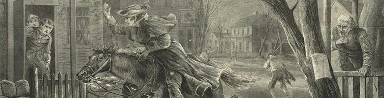 Paul Revere's Midnight Ride painting
