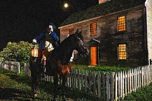 Reenactment Photo of Paul Revere