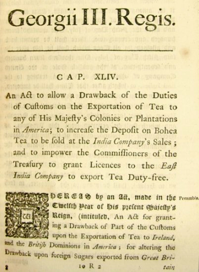 the tea act war in colonial america Start studying apush unit one  the advent of modern life occurred first in the seaboard centers of colonial america,  americans objected to the tea act of .