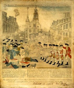 Paul Revere's inaccurate but politically compelling depiction of the Boston Massacre