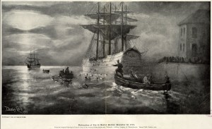 Destruction of the Tea in Boston Harbor