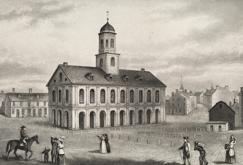Etching Of Faneuil Hall