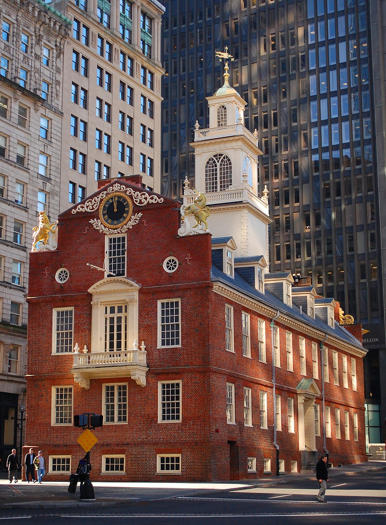 View of the Old Sate House in Boston
