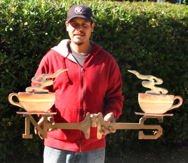 teapot directional weathervane