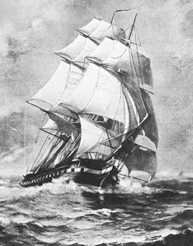 USS Constitution Rendering