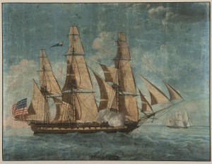 painting of USS Constitution