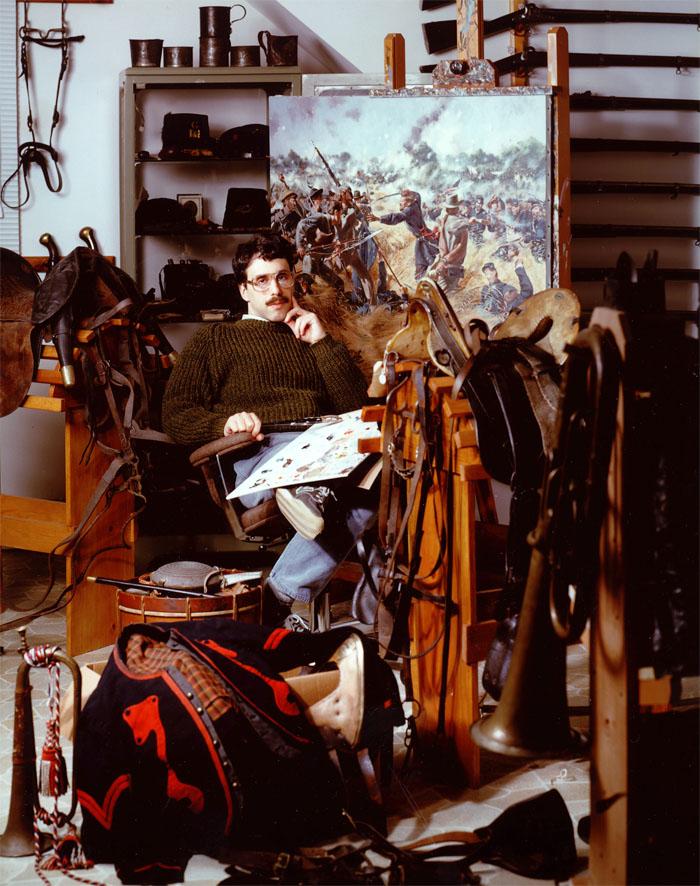 American revolution artist don troiani in his studio