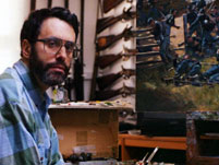 a photo of don troiani in his art studio