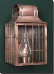 Photo of lamp replicating a colonnial lamp