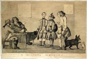 A Militia Meeting Illustration