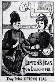 Lipton Tea Advertisement 1890