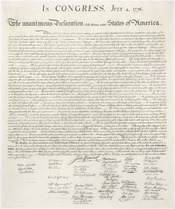 photo of US Declaration of Independence