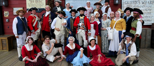photo of the cast at the boston tea party