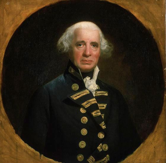 Portrait of Admiral Lord Howe by John Singleton Copley