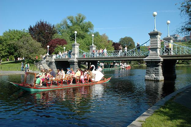Swan Boats at Boston Public Garden during 2 days in Boston