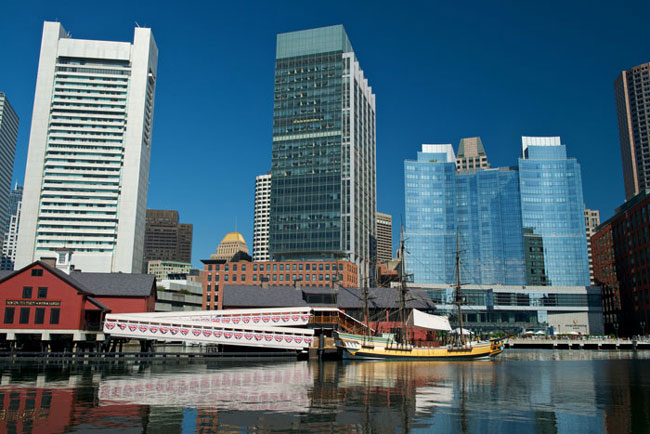 Image of Boston Tea Party Ships & Museum Exterior
