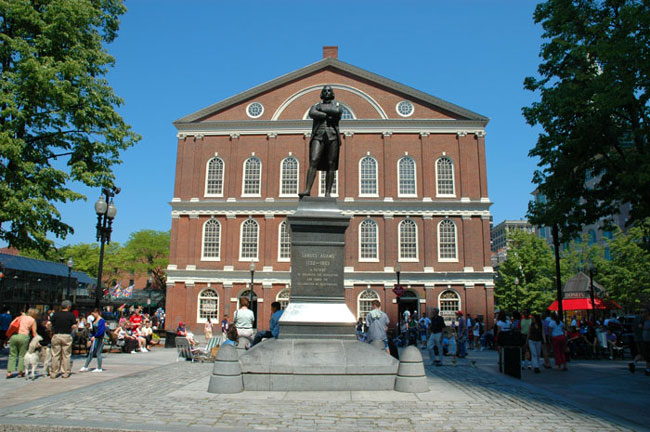 Boston Faneuil Hall exterior seen during boston itinerary 2 days