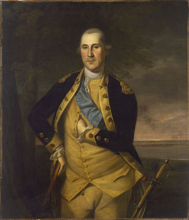 Portrait of George Washington by Charles Wilson Peale circa 1776