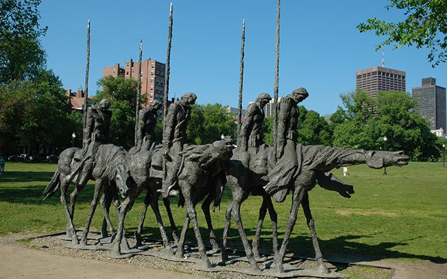 Statue in Boston Common