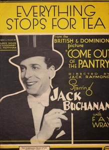 everything stops for tea sheet music