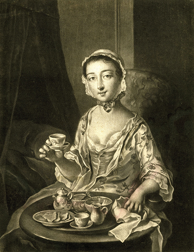 Morning Tea Print by Richard Houston, 1750