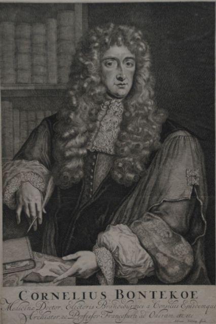 Dr. Cornelius Bontekoe, engraving by Adriaen Haelwegh c.1680