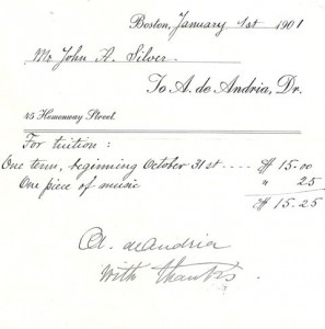 Old State House Time Capsule Tuition bill