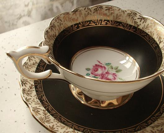 British tea cup that was used during the Boston Tea Party Era