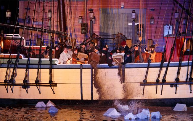Boston Tea Throwing