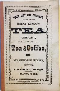 Great London Tea Co Boston cover