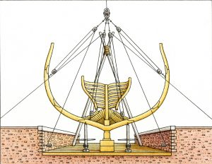 USS Constitution Museum Illustration of Framing Section