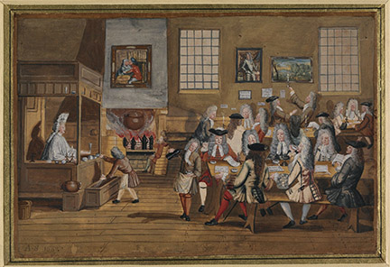 Interior of a London Coffee House,. c1700.