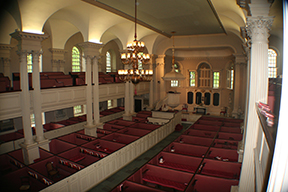 Kings Chapel interior from galleries
