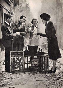 Serving Tea Following London Blitz