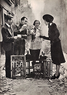 Serving Tea Following London Blitz