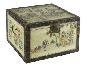 G Washington tea chest from China. Courtesy of the National Museum of American History