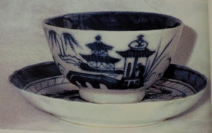 Abigail Adams' teacup with saucer, Chinese