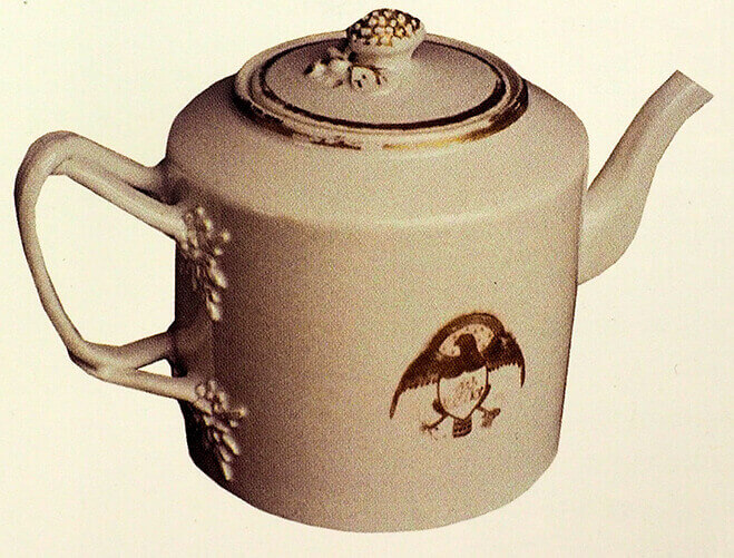 John Adams teapot, Chinese export c.1805